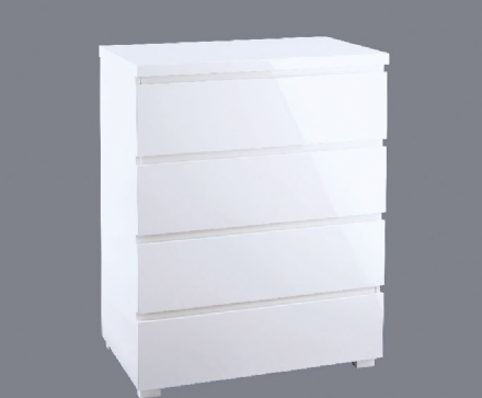 Puro 4 Drawer Chest - White